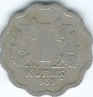Turkey - 1939 - 1 Kurus - KM867 - Turquie