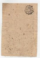 Acte Notarial Notaire Manuscrit Cachet Généralité D'Orléans Un Sol Au Dos 1766 - Seals Of Generality