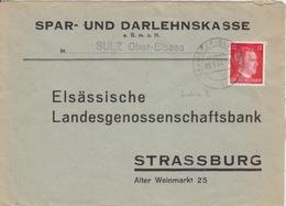 P Lettre à Entête (S.u.D. Sulz) Obl Gebwiller (T329 Gebweiler Els Sulz B) Sur TP Reich 12pf=1°éch Le 9/3/44 - Marcophilie (Lettres)