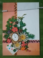 Kov 8-119 - NEW YEAR, BONNE ANNEE, Champignon, Mushroom, Cube, Playing Cards, Cartes à Jouer - Año Nuevo
