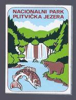 NACIONALALNI PARK PLITVICKA JEZERA ECUSSON ADHESIF AUTOCOLLANT - Autocollants