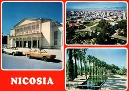 CPM - CHYPRE - NICOSIA - Multivues - Théâtre (voitures) - Cyprus