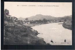 INDOCHINA Tonkin - Caobang Riviere Et Chaine De Montagnes Ca 1905 OLD POSTCARD - Vietnam