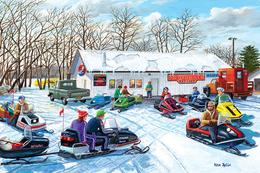 №181.19 Postcard Modern Rare New People On Snowmobiles Winter Holidays - Illustrators & Photographers
