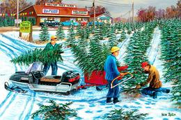 №181.20 Postcard Modern Rare New New Year's Sale Of Christmas Trees - Illustrators & Photographers
