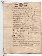 Acte Notarial Notaire Manuscrit Cachet Généralité De Paris Petit Papier Un Sol La Feuille 1679 17ème 4 Pages Incomplet - Seals Of Generality