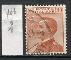 Italie - Italy - Italien 1917-22 Y&T N°106 - Michel N°132 (o) - 30c Victor Emmanuel III - Usados