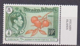 2015 Pitcairn Islands - Anniv. Of First Postage Stamp, Fruits Oranges, King George VI, Mi 943, MNH - Frutta