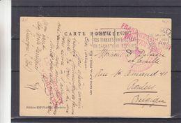 Croix Rouge - Belgique - Carte Postale De 1940 - Oblit Bruxelles - Exp Vers Roulers - Griffe Franchise De Port - Bélgica