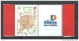 """FR Personnalisés YT 4001A """" Année Lunaire Du Cochon -LTP """" 2007 Neuf** - Personalized Stamps"""