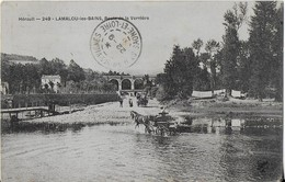 LAMALOU LES BAINS ::Route De La Vernière - Passage à Gué De L'Orb Par Une Charrette  (1907) - Lamalou Les Bains