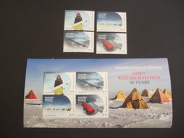 AAT 2019 Casey Research Station MNH **   Stmps + BLock. MNH**.  (05-15-860) - Territoire Antarctique Australien (AAT)