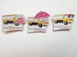 Série De 3 Pin's , Transport Camion Citerne , Fuel Worex - Transports