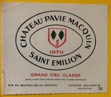 10381 - Château Pavie Macquin  1970  Saint Emilion - Bordeaux