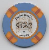 Jeton De Casino Barrière Deauville €25 - Casino