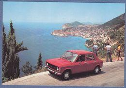 ZASTAVA 101 Car Auto Advertising Factory Postcard Dubrovnik Yugoslavia Serbia Croatia - Passenger Cars