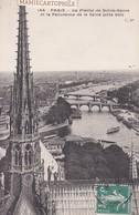 PARIS - La Flèche De La Cathédrale Notre-Dame Et Panorama De La Seine - 1909 - Notre Dame De Paris