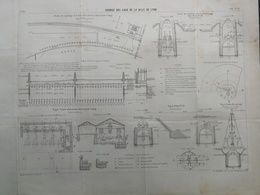 ANNALES DES PONTS Et CHAUSSEES (Dep 69) - Service Des Eaux De Lyon - L. Courtier 1900 (CLD03) - Travaux Publics