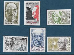France Timbres De 1981  N°2148 A 2153 Non Dentelé Neuf **gomme Parfaite Cote 90€ - Francia