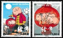 Timbres-poste Gommés Neufs** - Nouvel An Chinois Année Du Cochon - Montagne + Lanterne (grands Timbres) - France 2019 - France