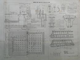 ANNALES DES PONTS Et CHAUSSEES (Dep 69) - Services Des Eaux De Lyon - L. Courtier 1900 (CLD05) - Architecture