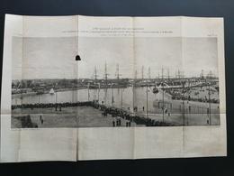 ANNALES DES PONTS Et CHAUSSEES (Dep 73) - Plan Du 3ème Bassin à Flot De ROCHEFORT - Gravé Par Dujardin - 1895 (CLD06) - Zeekaarten