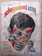 "SUPERBE GRAND AFFICHE CINEMA "" FERRACI - ECHAPPEMENT LIBRE 1964 ""- JEAN PAUL BELMONDO & JEAN SEBERG - BON ETAT - Affiches"