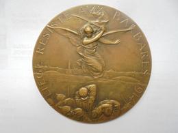 LIEGE RESISTE AUX BARBARES EN 1914-LA FRANCE HONORE LIEGE Par GEORGES PETIT. 120 Grammes-75 Mm - Professionnels / De Société