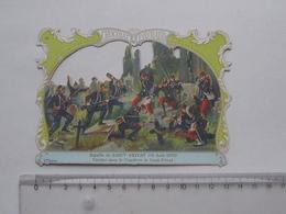 CHROMO DECOUPIS Chocolat PAYRAUD Grand Format: Bataille SAINT-PRIVAT 1870 Cimetière - MILITAIRE - GERMAIN Illustrateur - Découpis