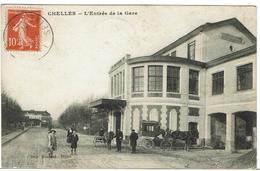 CPA - 77 - CHELLES - Entrée De La Gare - 1914 - Chelles