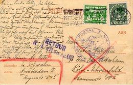 26 X 1939 Bk Amsterdam -Köln-Ehrenfeld Met Franse Postale Controle Commission WN (St. Quentin/Laon) En ReTour á Lénvoyeu - Periode 1891-1948 (Wilhelmina)