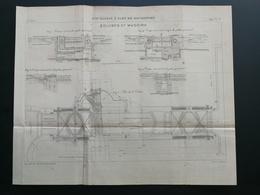 ANNALES DES PONTS Et CHAUSSEES (Dep 73) - Plan Du 3ème Bassin à Flot De ROCHEFORT - Gravé Par Macquet - 1895 (CLD08) - Zeekaarten