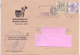 Omslag Enveloppe - Gemeentebestuur Merelbeke - 1976 - Stamped Stationery