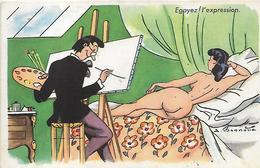Thème, Illustrateurs Signés,BONNOTTE,Egayez L'Expression, Animations, Couleurs, Scan Recto Verso - Bonnotte