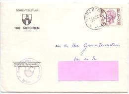 Omslag Enveloppe - Gemeentebestuur Merchtem 1976 - Stamped Stationery