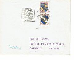 DAGUIN ILLUSTREE VOLVIC  TRACE DE FOULAGE  F82 - Poststempel (Briefe)
