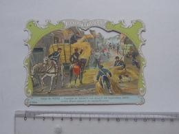 CHROMO DECOUPIS Chocolat PAYRAUD Grand Format: Combat MERCY-LE-HAUT (1870) Siège METZ - MILITAIRE - GERMAIN Illustrateur - Découpis