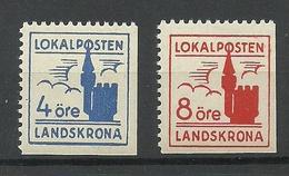 SCHWEDEN Sweden LANDSKRONA Stadtpost Local City Post MNH - Ortsausgaben