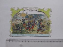 CHROMO DECOUPIS Chocolat PAYRAUD Grand Format: Combat De PELTRE (1870) Siège De METZ - MILITAIRE - GERMAIN Illustrateur - Victorian Die-cuts