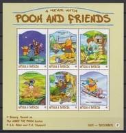 2433/2  Walt Disney  Antigua & Barbuda  1998 - Winnie The Pooh And Friends Over The Months . - Disney