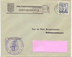 Omslag Enveloppe - Politiekommisariaat Sint Michiels - Stempel Cachet Brugge 1967 - Entiers Postaux