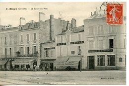 1106. CPA 33 BLAYE. LE COURS DU PORT 1914 - Blaye