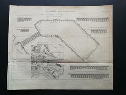 ANNALES DES PONTS Et CHAUSSEES (Dep 73) - Plan Du 3ème Bassin à Flot De ROCHEFORT - Gravé Par Macquet - 1895 (CLD10) - Zeekaarten