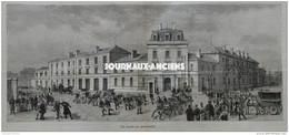 1886 SAPEURS POMPIERS DE PARIS NOUVELLE CASERNE TYPE ( CHALIGNY ) - TROIS MUSICIENS  LISTZ - COMTE ZICHY - EDMOND AUDRAN - 1850 - 1899