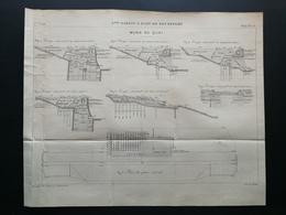 ANNALES DES PONTS Et CHAUSSEES (Dep 73) - Plan Du 3ème Bassin à Flot De ROCHEFORT - Gravé Par Macquet - 1895 (CLD11) - Zeekaarten