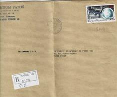 TP  N° 2409 Seul Sur Enveloppe En Recommandé De Paris 18 - Postmark Collection (Covers)