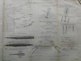 ANNALES DES PONTS Et CHAUSSEES (France Centrale) - Nouveaux Ponts Suspendus Français - Gravé Par Macquet - 1886 (CLD13) - Travaux Publics