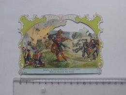 CHROMO DECOUPIS Chocolat PAYRAUD Grand Format: Bataille WISSEMBOURG (1870) ABEL DOUAI - Militaire - GERMAIN Illustrateur - Découpis