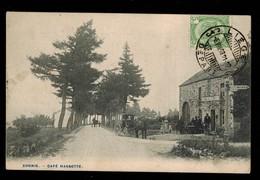 Xhoris (Ferrières) - Café Massotte - Vue Animée - Attelage - Rarissime - 2 Scans - Ferrieres