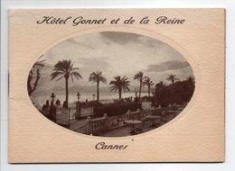 - Dépliant CANNES - Hôtel Gonnet Et De La Reine - Photos CARON - - Dépliants Touristiques
